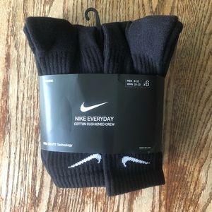 Nike Dri Fit Crew Socks Black